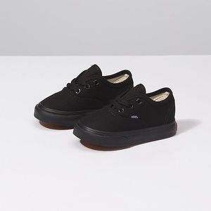 Toddler Vans Authentic Sneakers in All Black: Sz 6